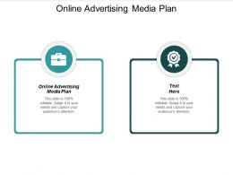Online Advertising Media Plan Ppt Powerpoint Presentation Gallery Designs Cpb
