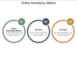 Online Advertising Metrics Ppt Powerpoint Presentation File Diagrams Cpb
