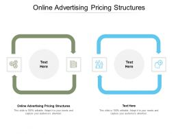 Online Advertising Pricing Structures Ppt Powerpoint Presentation Slides Cpb