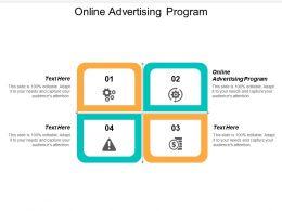 Online Advertising Program Ppt Powerpoint Presentation Ideas Designs Cpb