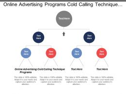 Online Advertising Programs Cold Calling Technique Hiring Policies