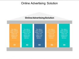 Online Advertising Solution Ppt Powerpoint Presentation Visual Aids Professional Cpb