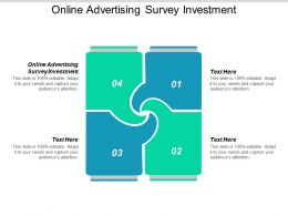 Online Advertising Survey Investment Ppt Powerpoint Presentation Styles Graphics Template Cpb
