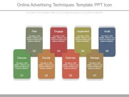 Online Advertising Techniques Template Ppt Icon