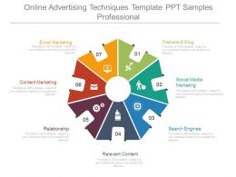 Online Advertising Techniques Template Ppt Samples Professional