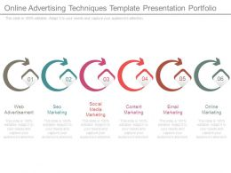 Online Advertising Techniques Template Presentation Portfolio