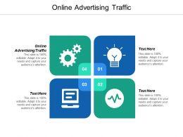Online Advertising Traffic Ppt Powerpoint Presentation Portfolio Graphics Tutorials Cpb
