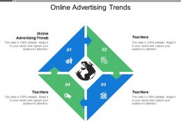 Online Advertising Trends Ppt Powerpoint Presentation Model Clipart Images Cpb