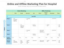 Online And Offline Marketing Plan For Hospital