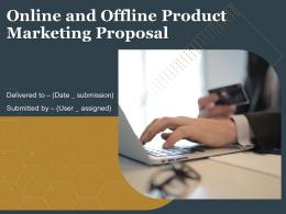 Online And Offline Product Marketing Proposal Powerpoint Presentation Slides