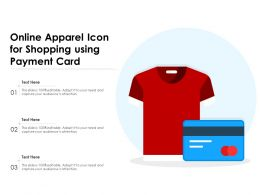 Online Apparel Icon For Shopping Using Payment Card