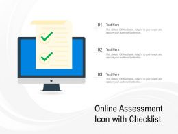 Online Assessment Icon With Checklist