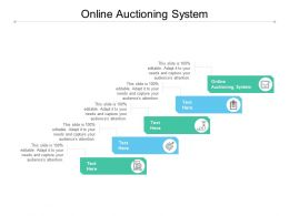 Online Auctioning System Ppt Powerpoint Presentation Icon Introduction Cpb