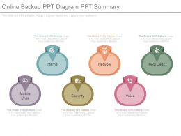 Online Backup Ppt Diagram Ppt Summary