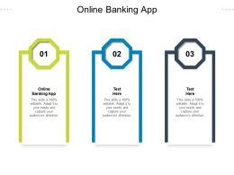 Online Banking App Ppt Powerpoint Presentation Infographics Design Ideas Cpb