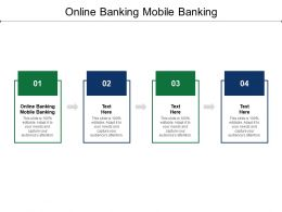 Online Banking Mobile Banking Ppt Powerpoint Presentation File Example Cpb