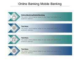 Online Banking Mobile Banking Ppt Powerpoint Presentation Gallery Designs Cpb