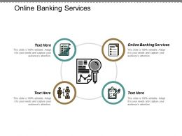 Online Banking Services Ppt Powerpoint Presentation Pictures Tips Cpb