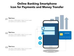 Online Banking Smartphone Icon For Payments And Money Transfer