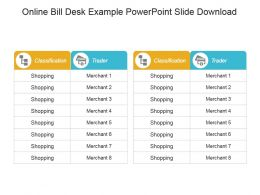 Online Bill Desk Example Powerpoint Slide Download
