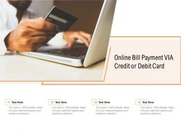Online Bill Payment Via Credit Or Debit Card