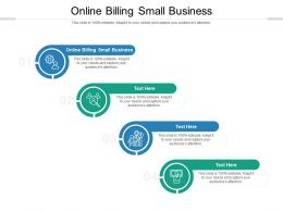 Online Billing Small Business Ppt Presentation Infographic Template Files Cpb