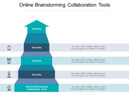 Online Brainstorming Collaboration Tools Ppt Powerpoint Presentation File Cpb