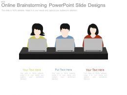 Online Brainstorming Powerpoint Slide Designs