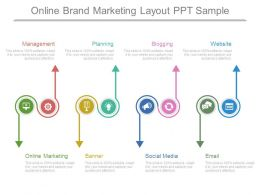 Online Brand Marketing Layout Ppt Sample