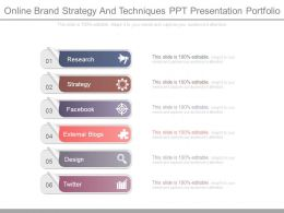 Online Brand Strategy And Techniques Ppt Presentation Portfolio