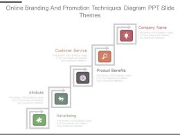 Online Branding And Promotion Techniques Diagram Ppt Slide Themes