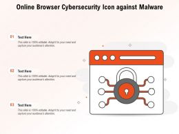 Online Browser Cybersecurity Icon Against Malware