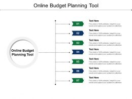 Online Budget Planning Tool Ppt Powerpoint Presentation Summary Layout Cpb
