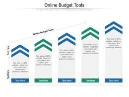 Online Budget Tools Ppt Powerpoint Presentation Ideas Slides Cpb