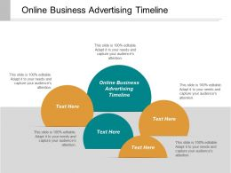 Online Business Advertising Timeline Ppt Powerpoint Presentation Inspiration Grid Cpb