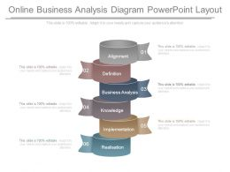 Online Business Analysis Diagram Powerpoint Layout