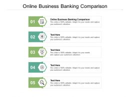Online Business Banking Comparison Ppt Powerpoint Presentation File Gridlines Cpb