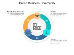 Online Business Community Ppt Powerpoint Presentation Portfolio Guidelines Cpb
