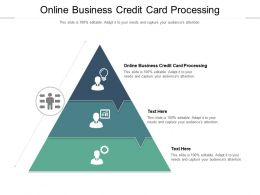 Online Business Credit Card Processing Ppt Powerpoint Presentation File Sample Cpb