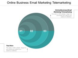 Online Business Email Marketing Telemarketing Ppt Powerpoint Presentation Ideas Display Cpb