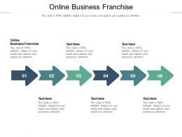 Online Business Franchise Ppt Powerpoint Presentation Ideas Background Images Cpb