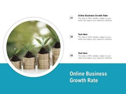 Online Business Growth Rate Ppt Powerpoint Presentation Inspiration Deck Cpb