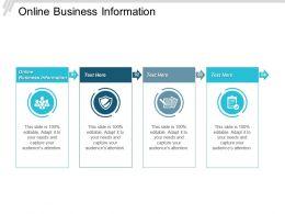 Online Business Information Ppt Powerpoint Presentation Deck Cpb