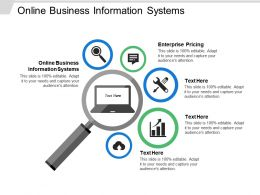 Online Business Information Systems Ppt Powerpoint Presentation Ideas Pictures Cpb