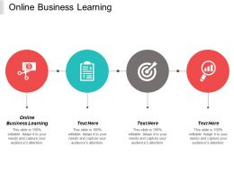 Online Business Learning Ppt Powerpoint Presentation Infographics Background Images Cpb