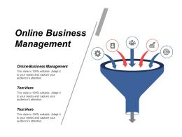 Online Business Management Ppt Powerpoint Presentation File Portrait Cpb