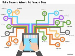 Online Business Network And Financial Deals Powerpoint Templates