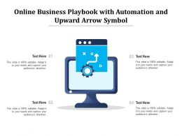 Online Business Playbook With Automation And Upward Arrow Symbol