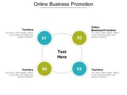 Online Business Promotion Ppt Powerpoint Presentation Icon Template Cpb