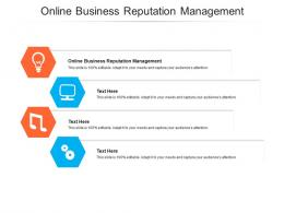 Online Business Reputation Management Ppt Powerpoint Presentation Model Examples Cpb